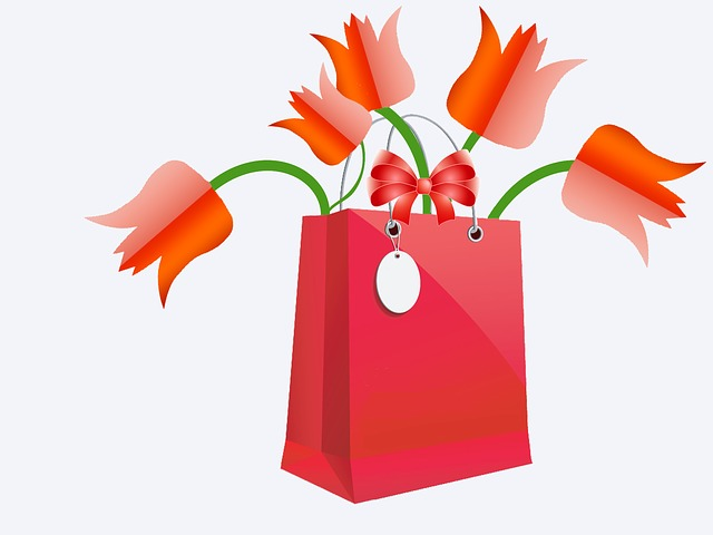 Flowers, Tulips, Bag, Gift, Red, Arc
