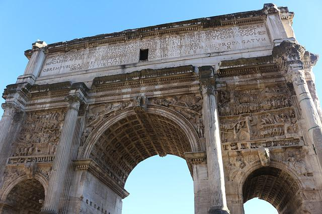 Rome, Ruins, Antique, Architecture, Arch, Stone