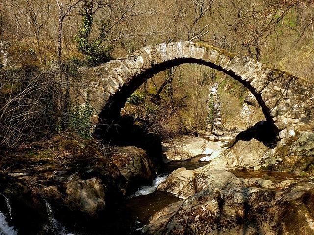 Aveyron, France, Landscape, Bridge, Stone, Arch, Arched