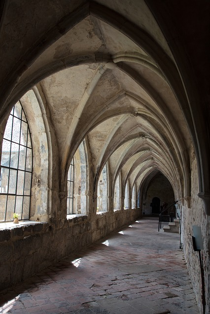 Cloister, Monastery, Gang, Shadow, Light, Arch