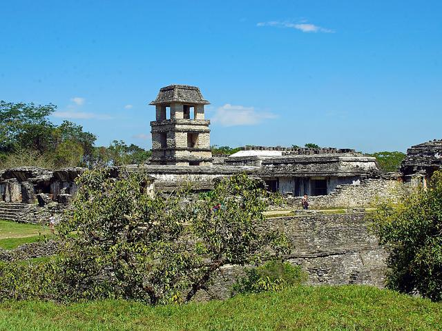 Mexico, Palenque, Ruins, Archaeology, Palace, City