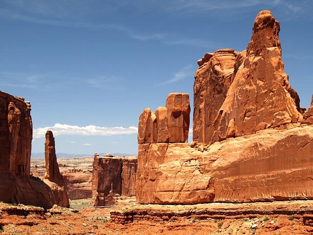Arches National Park, Utah, Usa, Red, Rocks, Landscape