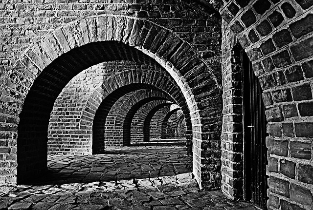 Vaulted Cellar, Tunnel, Arches, Xanten