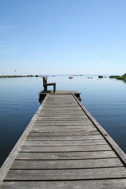 Bridge, Summer, Sofa, Horizon, Sea, Archipelago