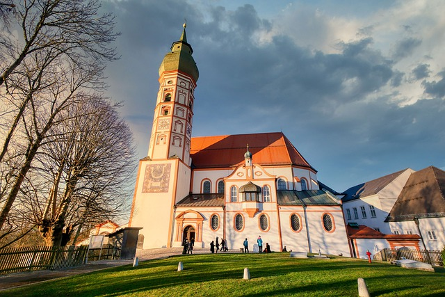 Church, Tower, Steeple, Architecture, Religion, Andechs