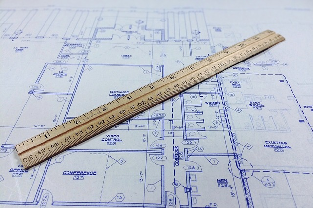 Blueprint, Ruler, Architecture, Architectural
