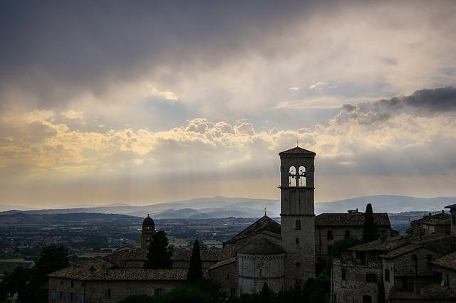 Assisi, Italy, Church, Tuscany, Architecture, Religion