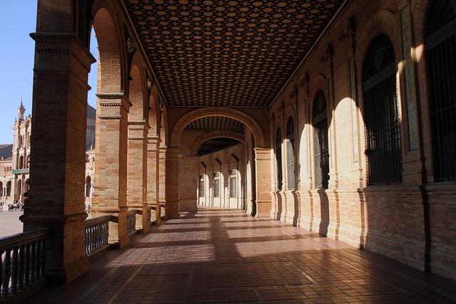 Corridor, Way, Light, Building, Architecture, Tunnel