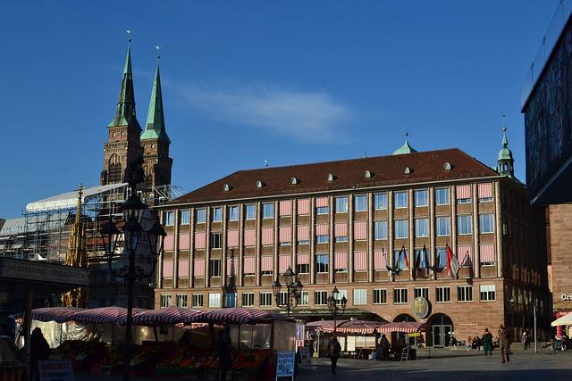 Architecture, Travel, City, Sky, Building, Nuremberg