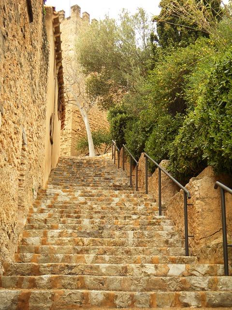 Stairs, Building, Architecture, Majorca, Spain, Tour