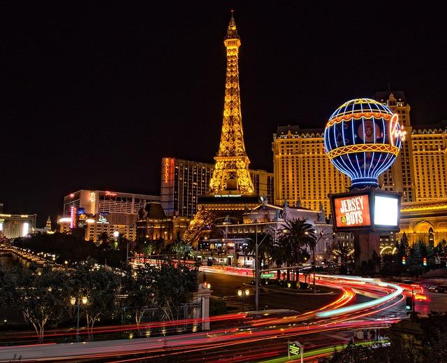 Las Vegas, Eiffel Tower, Buildings, Architecture