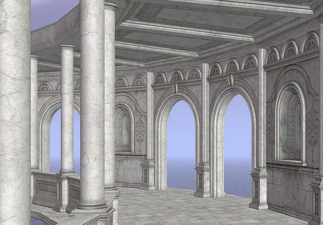Castle, Pillars, Hallway, Architecture, Gallery