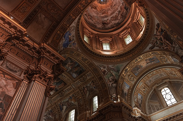 Architecture, Ceiling, Rome