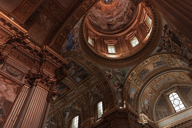 Architecture, Ceiling, Rome