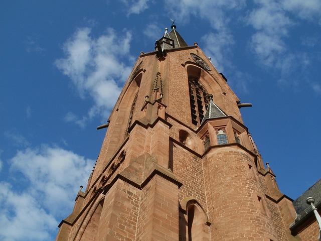 Church, Tower, St Vitus, Rheinsheim, Architecture