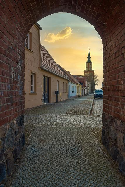 Goal, City Gate, Historically, Architecture, City Wall
