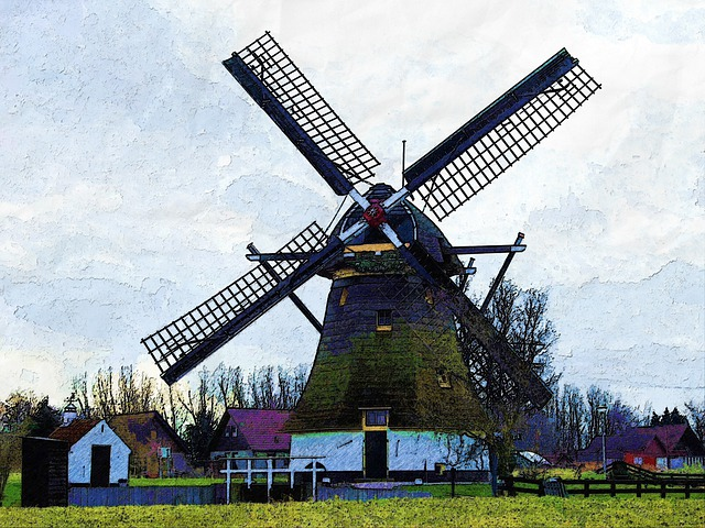 Windmill, Classic, Vintage, Architecture, Holland, Old