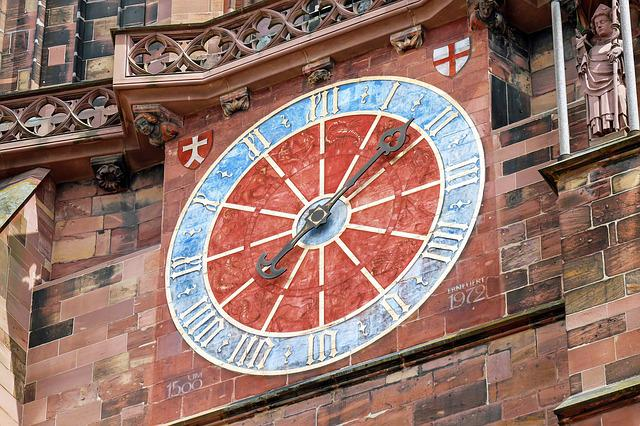 Clock Tower, Dial, Architecture, Münster Freiburg