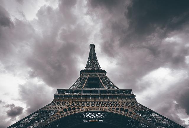 Architecture, Eiffel Tower, Paris, Clouds