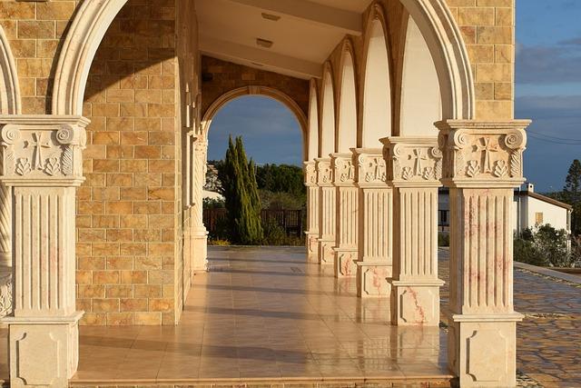 Colonnade, Architecture, Column, Exterior, Church