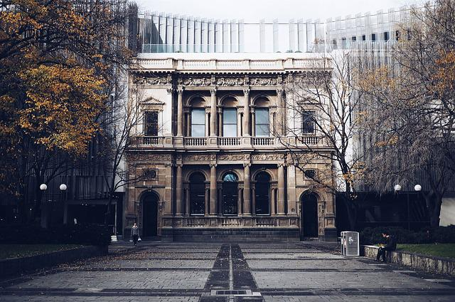 Architecture, Building, Columns, Pillars, Trees
