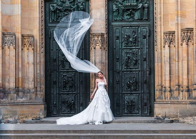 Prague, Church, Architecture, Czech, Bride, Fiancée
