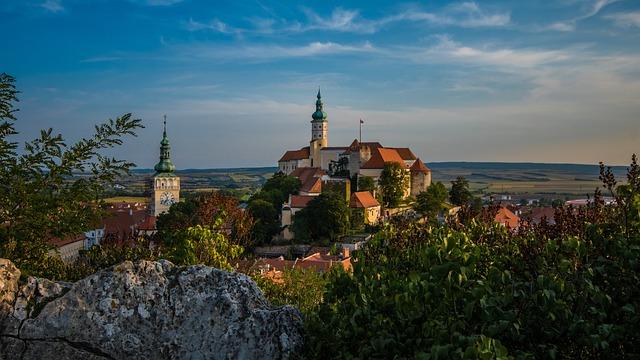 Mikulov, Old Town, Czech Republic, Architecture, Castle