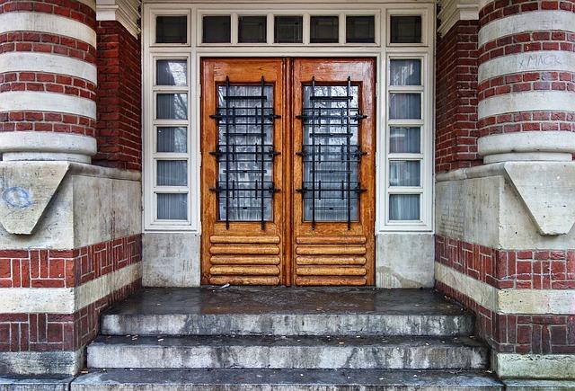 Door, Wooden Door, Entrance, Double Door, Architecture