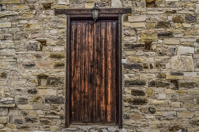 Door, Wooden, Wall, Old, Wood, Stone, Architecture