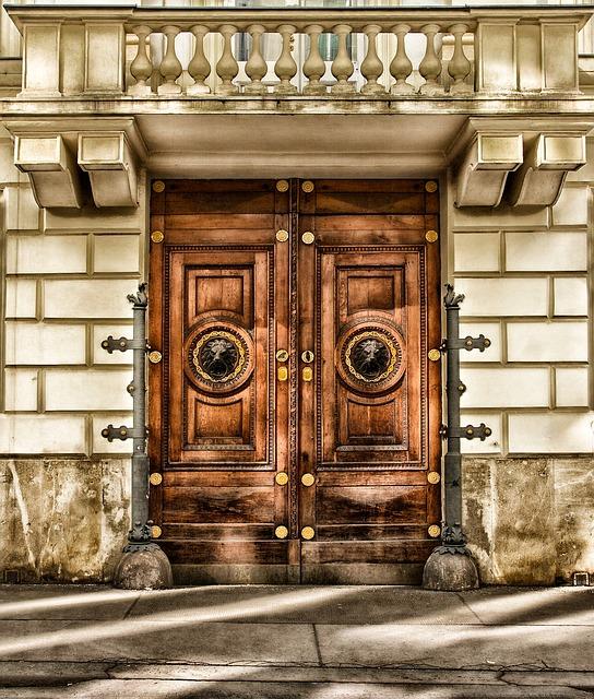 Vienna, Austria, Building, Door, Architecture, Wood