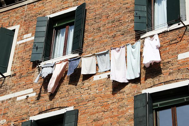 Facade, Laundry, Dry, Architecture, Hauswand