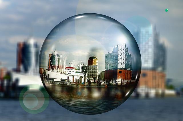 Elbe, Architecture, Ball, Soap Bubble, Building