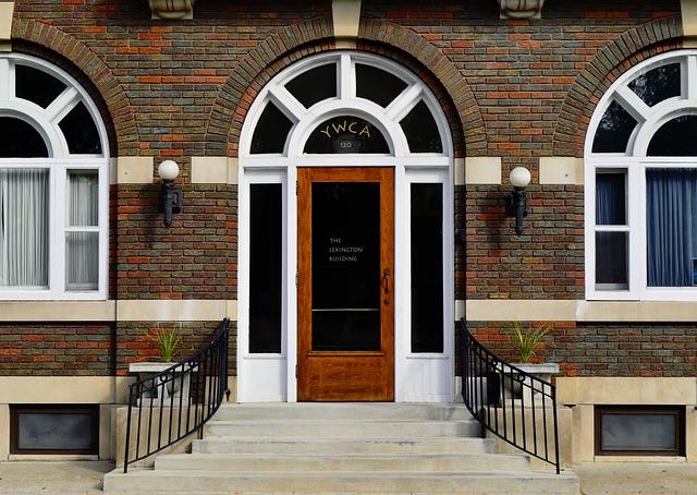 Windows, Doors, Entrance, Bricks, Architecture