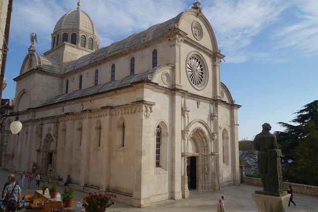 Architecture, Religion, Cathedral, Facade, šibenik