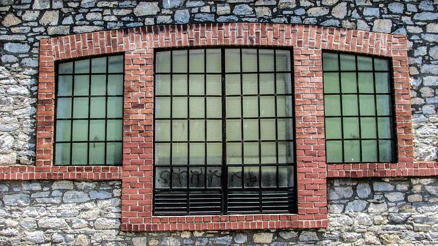 Window, Brick, Old, Factory, Renovation, Architecture