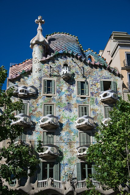 Fun, Spain, Barcelona, Architecture, Gaudí, Homes, Road