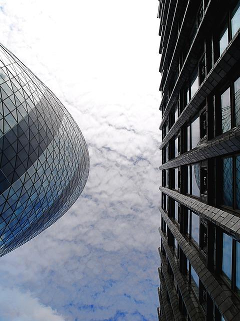 London, Gherkin, Skyscraper, Architecture