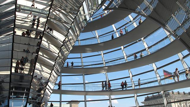 Berlin, Dome, Steel, Modern, Glass, Architecture
