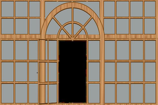Architecture, Window, Door, Glass, Geometric