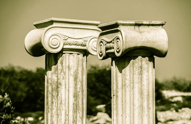 Pillar Capitals, Greek, Architecture, Column, Ionic