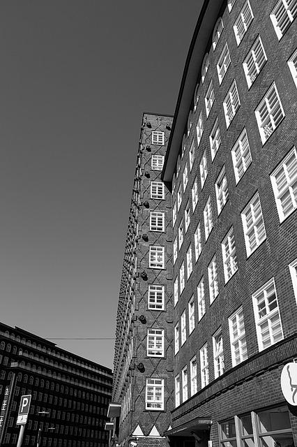 Hamburg, Chile-house, Architecture, Black White