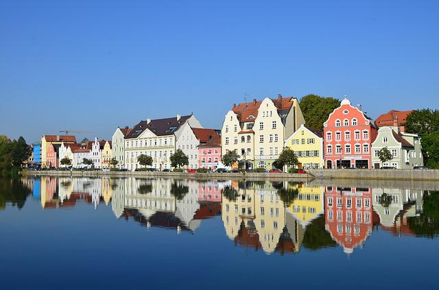 Architecture, Home, Waters, Building, Travel, Landshut