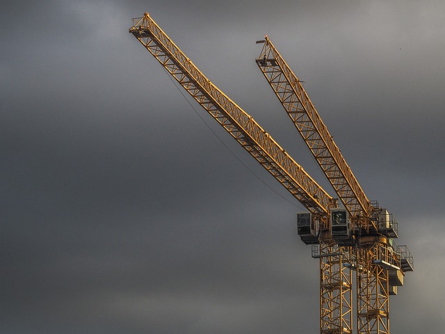 Crane, Construction, Site, Industry, Architecture