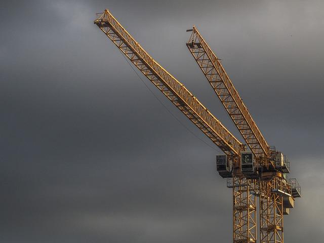 Crane, Construction, Site, Industry, Architecture