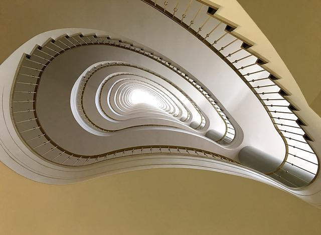 Staircase, Berlin, Architecture, Interior, Building