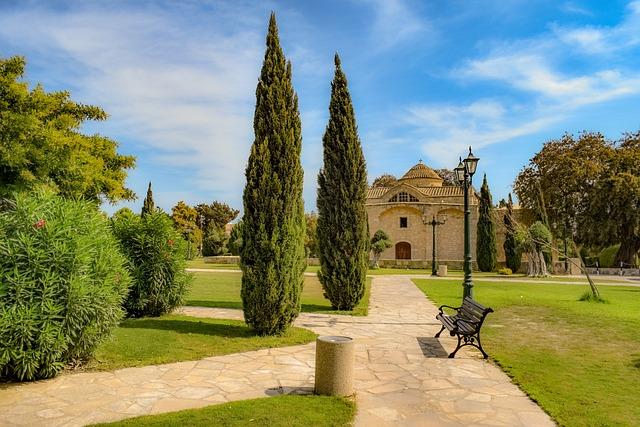 Park, Trees, Lamp, Square, Church, Architecture