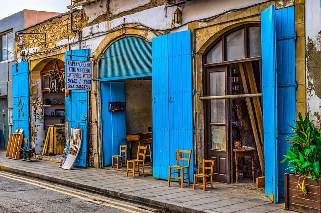 Cyprus, Larnaca, Old Town, Shop, Architecture, Street