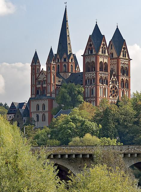 Germany, Limburger Dom, Architecture, Bridge, River