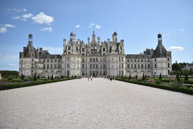 Castle, Loire, France, Chambord, Architecture, Palace