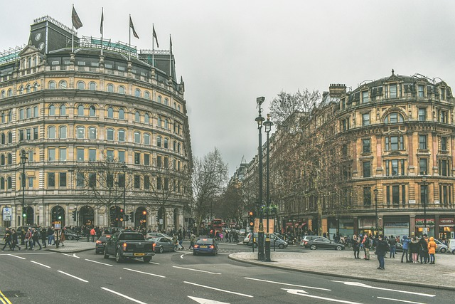 London, Street, Architecture, Buildings, People, Travel